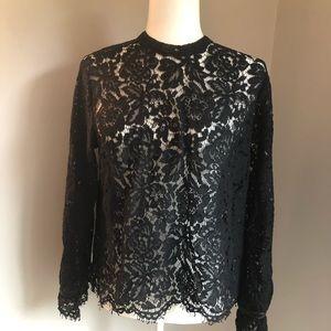 Gap, long sleeve lace shell